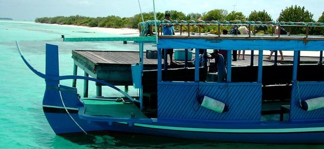 Boat trip in the Maldives