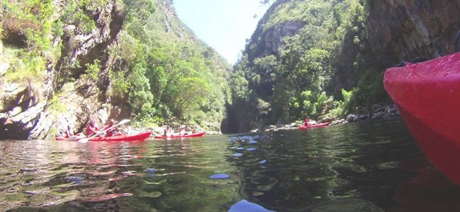 Canoe activity in Tsitsikamma National Park, South Africa
