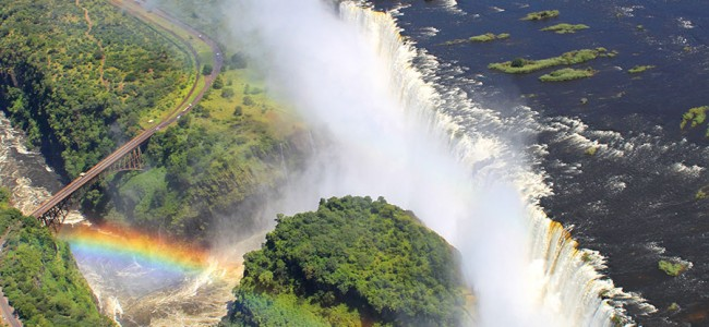 Flight of the Angels, View of Victoria Falls from Helicopter, Zimbabwe