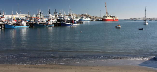 Harbour at Luderitz, Namibia