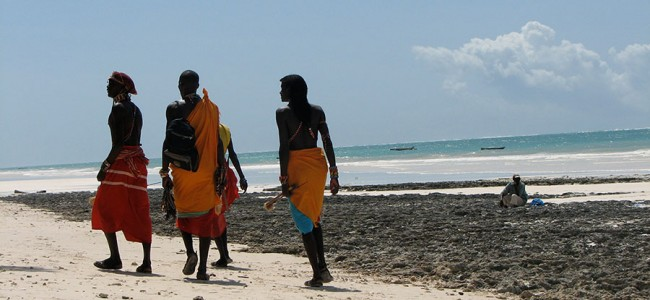 Masai Men in Mombasa, Kenya
