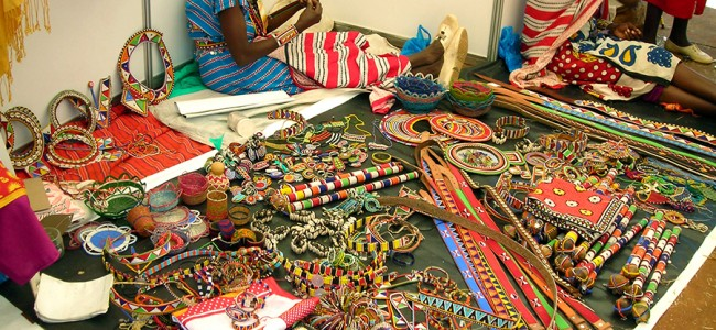 Masai shop in Kenya