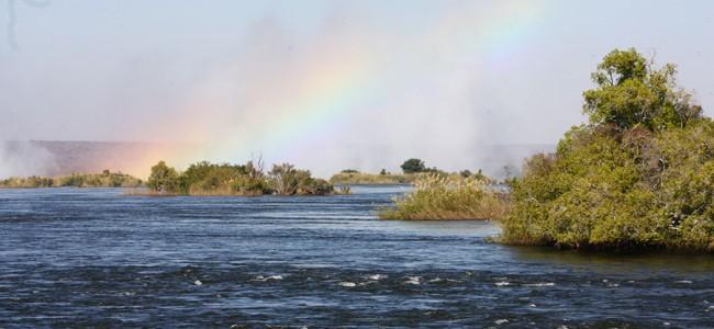 Rainbow Mist above the Victoria Falls, Zambia