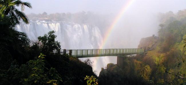 Rainbow over the Victoria Falls, Zambia