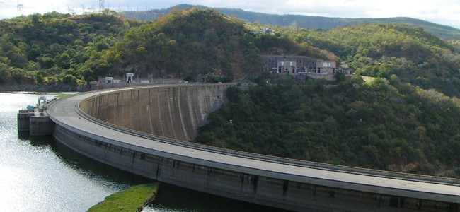 The magnificent Kariba Dam Wall, Zambia