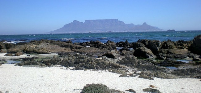 View of Table Mountain from the West Caost, South Africa