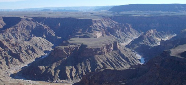 View of the Fish River Canyon in Namibia